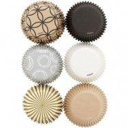 Muffinsformar mönstrade och enfärgade, 150 st - Wilton