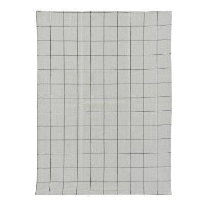 Check Handduk 50x70 cm Grå/svart ruta