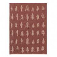 Ferm Living - Handduk Granar 50x70 cm Röd/Brun