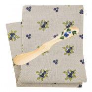 Set Handduk + Smörkniv Blåbär