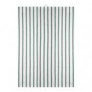Signerat Handduk randig 50x70 cm Grön