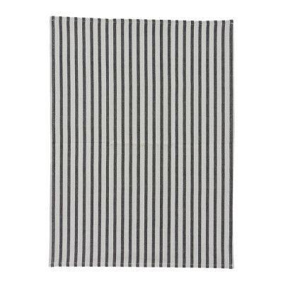 Stripe Handduk 50x70 cm Grå/svart ränder