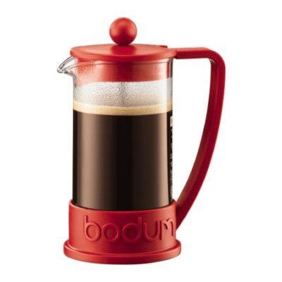 Bodum Brazil Kaffebryggare 3 koppar 35 cl Röd