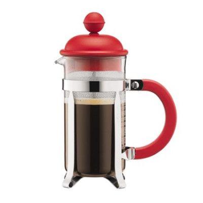 Bodum Caffettiera Kaffebryggare 3 koppar Röd