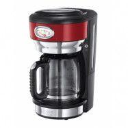 Russell Hobbs Retro Kaffebryggare Glas 10 koppar, Röd