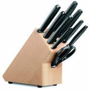 Victorinox Knivblock, tomt, trä svart handtag för 9 delar