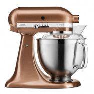 KitchenAid - Artisan Köksmaskin 4,8 + 3 L + Tillbehör Satin Copper