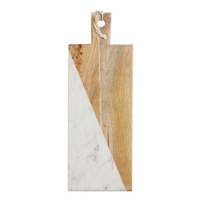 Gourmet Prep&Serve Bräda rektangulär 49,5x18 cm Mango/Marmor