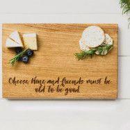 Scottish Made - Skärbräda Ek Cheese Wine&Friends 30x20 cm