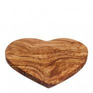 Naturally Med - Skärbräda Oliv hjärta 21 cm