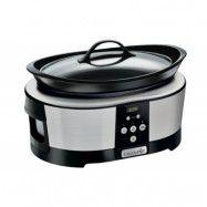 Crock-Pot Slowcooker Med Timer 5.7 L Rostfri