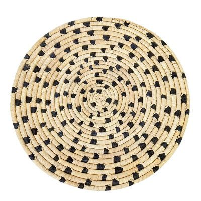 Palm Tablett 37 cm Natur/Svart