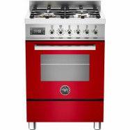 Bertazzoni PRO604 Gasspis 60 cm, 1 ugn, 4 brännare, röd